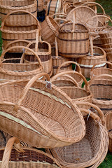 Wattled baskets at fair of national creativity