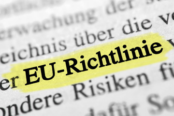 EU-Richtlinie - gelb markiert