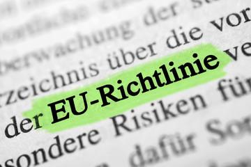 EU-Richtlinie - grün markiert