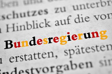 Bundesregierung - schwarz-rot-gold Buchstaben