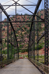 rusted bridge over the Colorado River