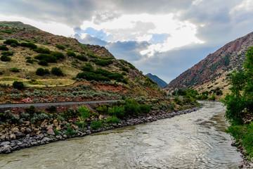 colorado river flowing through mountains