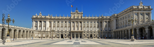 Fotobehang Madrid Front view of Royal Palace in Madrid, Spain