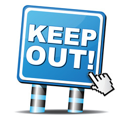 KEEP OUT ICON