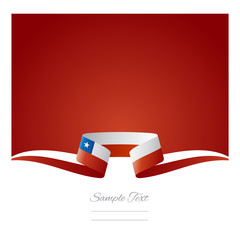 Abstract background Chilean flag ribbon
