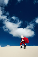 Even Santa Claus has to stop and take in the view