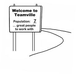 Welcome to Teamville, population 7... great people ...