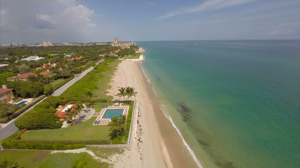 Aerial video of West Palm Beach Florida