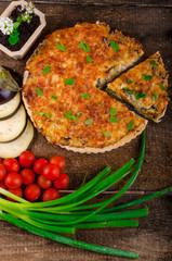 French Quiche vegetarian