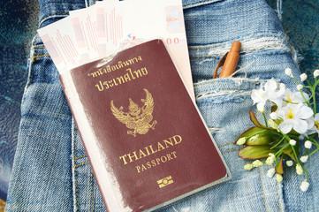 thailand passport and money