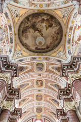 The ceiling is painted in the Church of Our Lady