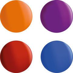 set of four colorful illuminated plastic balls