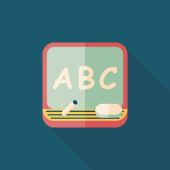 blackboard flat icon with long shadow,eps10