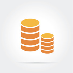 Vector coins icon isolated