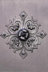 Fiore di ferro battuto, decorazione, dettaglio