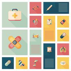medical flat ui background,eps10