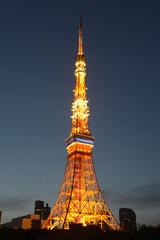 夕闇の東京タワー