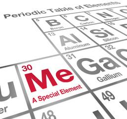 Me Special Element Periodic Table Unique Different Confidence
