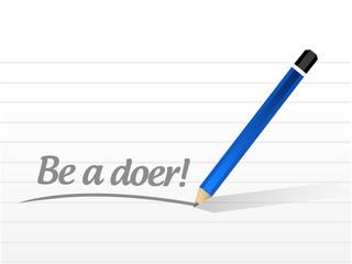 be a doer message illustration design