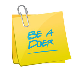 be a doer memo illustration design