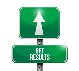 get results sign illustration design