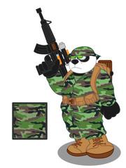 Panda soldier 1