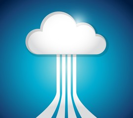 cloud computing link network connection