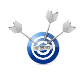 get results target and darts illustration design