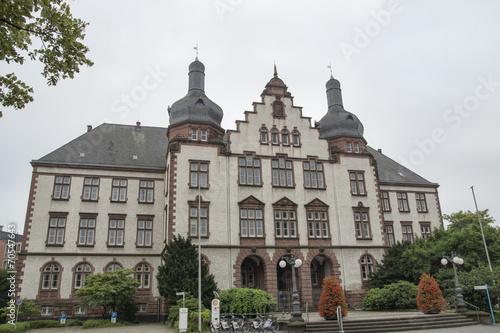 Leinwanddruck Bild Rathaus Hamm, NRW, Deutschland
