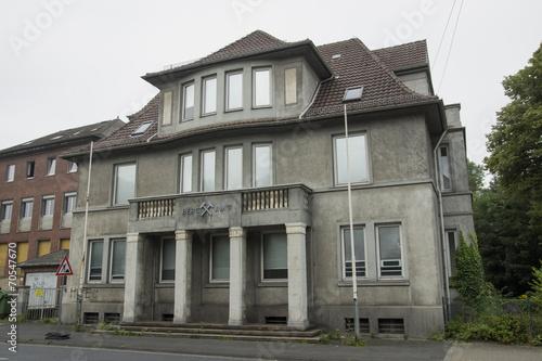 canvas print picture Altes Bergamt in der Goethestr. in Hamm, NRW, Deutschland