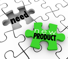 New Product FIlling Need Business Service Sell  Customers Puzzle