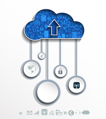 Clouds for social networks . Cloud computing concept.