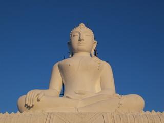 buddha on blue sky
