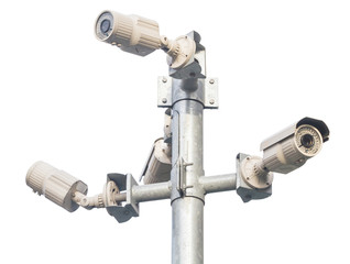 Four CCTV security camera.