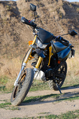 Sport bike for enduro on motocross track