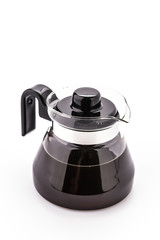 Coffee pot isolated on white background