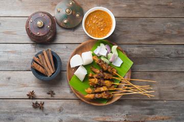 chicken satay popular asian dish