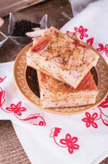 Pork lard with spices
