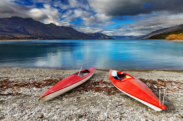 Wakatipu Lake, New Zealand