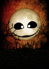 Moon Scary Halloween Festival Background
