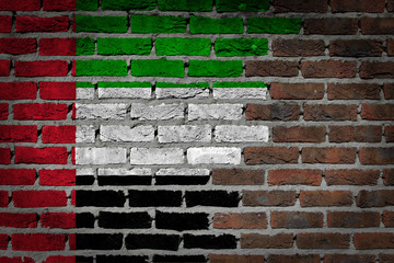 Dark brick wall - UAE