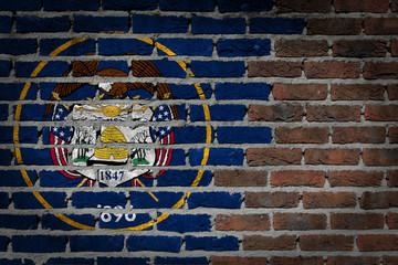 Dark brick wall - Utah