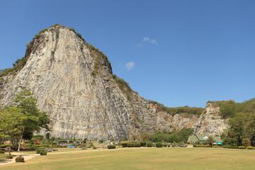 The laser cliff buddha image KHAO CHEECHAN BUDDHA IMAGE pattaya
