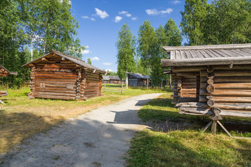 Malye Korely, Russia. Summer (hay) hut, beginning XX c.