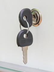 Keys in the slot.
