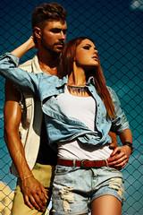 beautiful sexy stylish couple