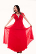 canvas print picture - rotes Kleid