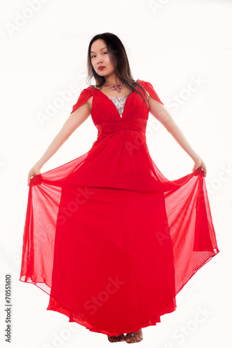 canvas print picture rotes Kleid