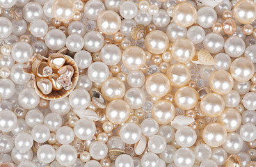 background of pearls.