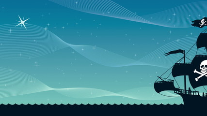 Pirate Ship Sailing 2
